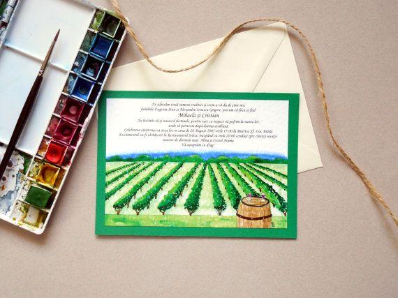 Illustrated Wedding Venue Invitation  Hand by WatercoloredWedding