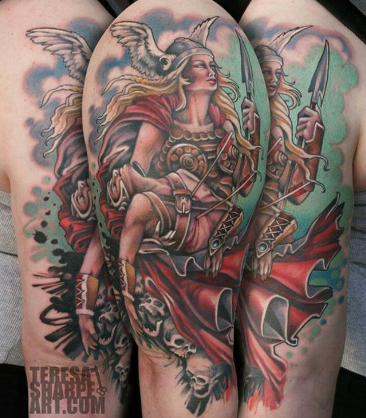 stunning valkyrie tattoo by teresa sharpe tattoos pinterest valkyrie tattoo and tattoo. Black Bedroom Furniture Sets. Home Design Ideas