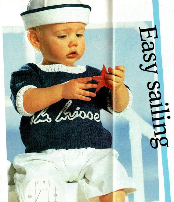 PDF Vintage Baby Cute Sailor Costumes Knitting by TheAtticofKitsch