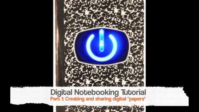 Digital Notebooking Tutorial: Part 1