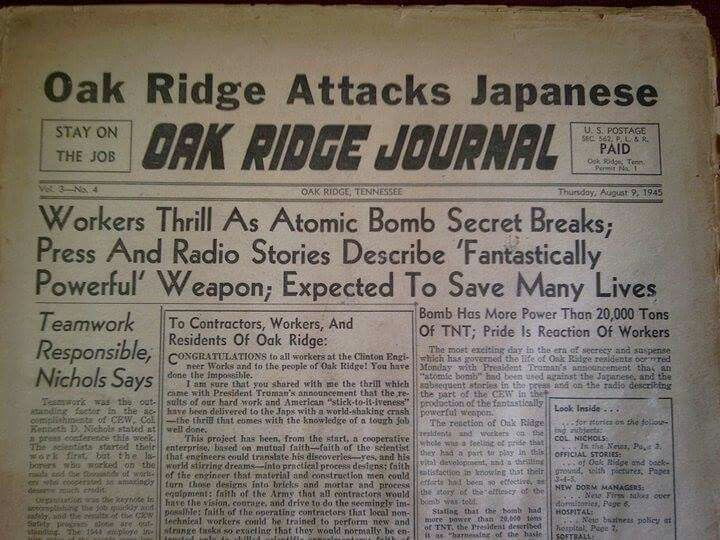 best manhattan project and oak ridge images the first newspaper published in oak ridge tn the atomic city after the secret