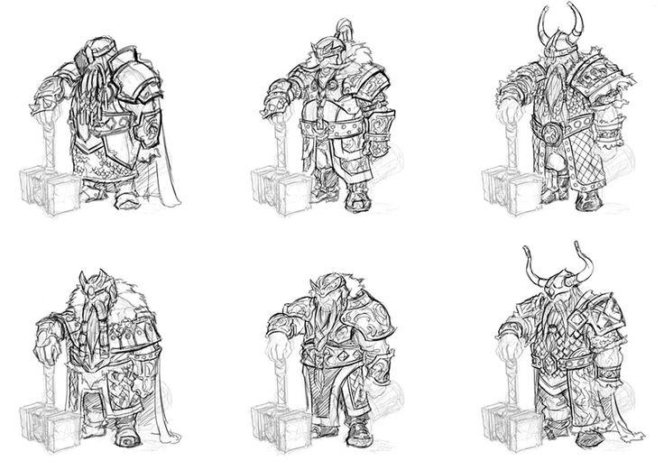dwarf armor sketches