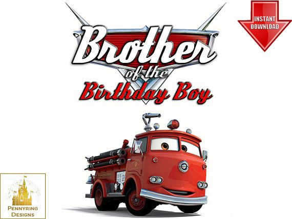 Brother of the Birthday Boy Cars Chief T Shirt Iron by ...