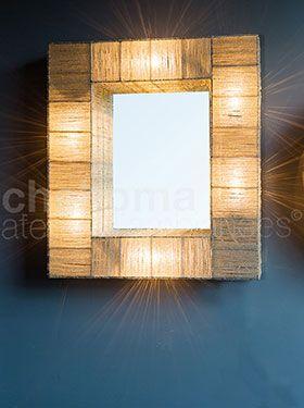 Mirror w/ lights 75x60cm