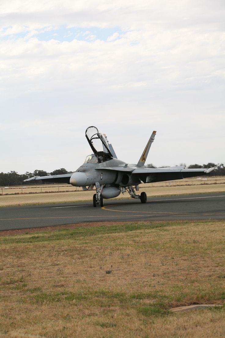 Royal Australian Air Force F/A 18 Hornet. Temora Air Show November 2013.
