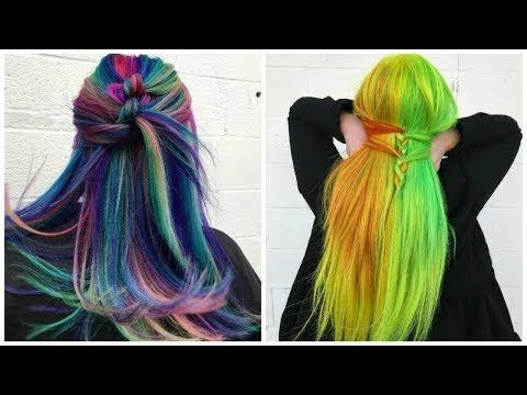 Colorful Hairstyles Enchanting Super Colorful Hairstyles Transformations Compilation 2018