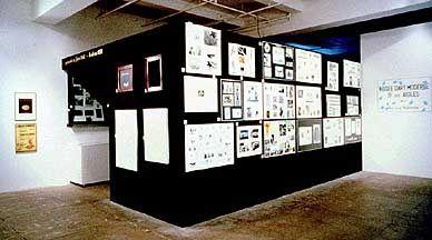 """Marcel Broodthaers, """"Musée d'Art Moderne, Département des Aigles, Section Publicité"""" 1968-72. Mixed-media installation."""