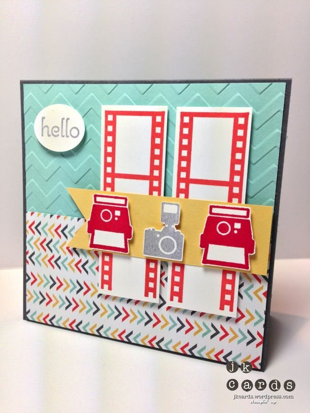 Stampin' Up!, Pals Paper Arts 180, Around the World, A Dozen Thoughts, Filmstrip, I Am Me DSP, Chevron Embossing Folder, Small Oval Punch