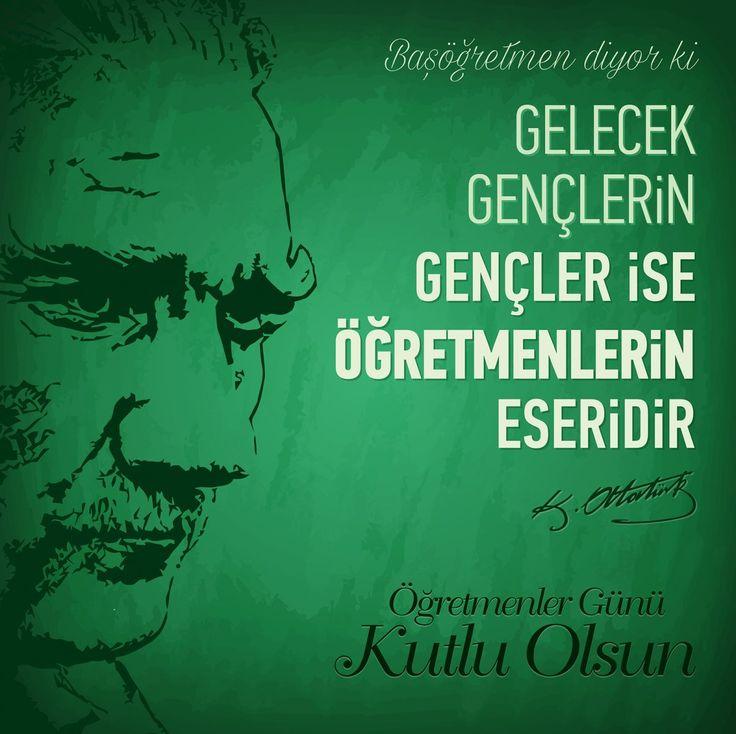 Vektörel Çizim | Başöğretmen Mustafa Kemal Atatürk, 24 Kasım