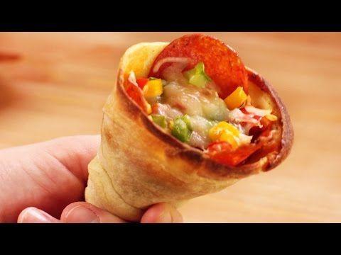 Pizza cone - YouTube