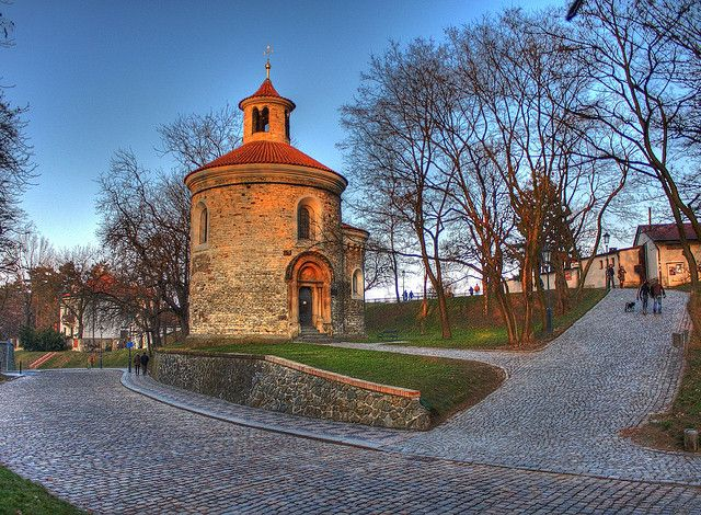 St Martin's Rotunda is probably the oldest surviving rotunda in Prague. It was built in Romanesque style around 1100