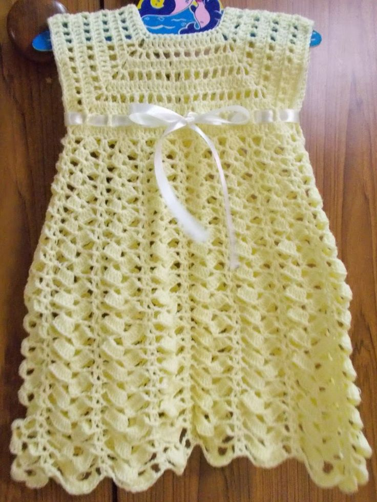Crochet Patterns For Baby Dresses : 441 best images about Crochet~Baby Dresses on Pinterest ...