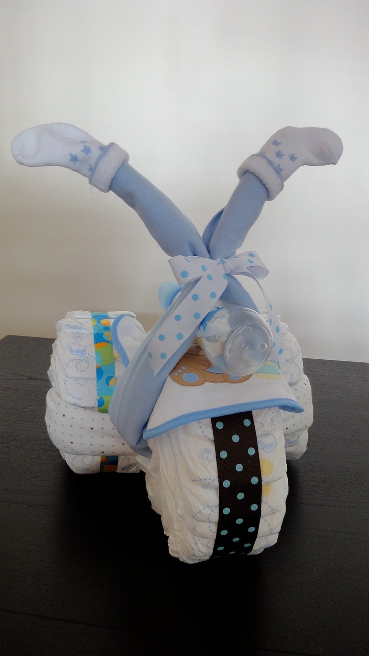 Baby Diaper Cake - Boys & Toys Bike. $39.00, via Etsy. this would be so cute if its a boy of course but still so cute :)