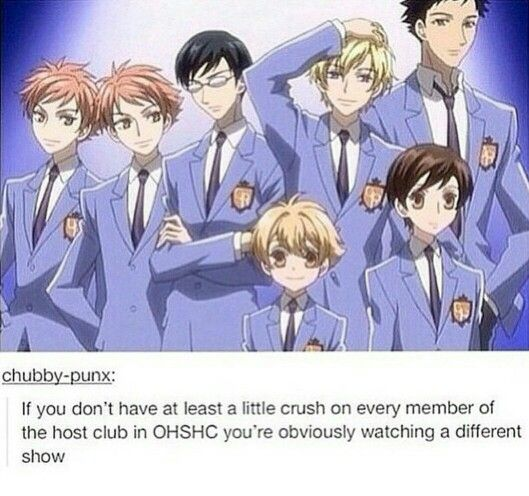 I think that's kind of the point of the show, really. Each of them embodies everything a girl usually likes in a guy