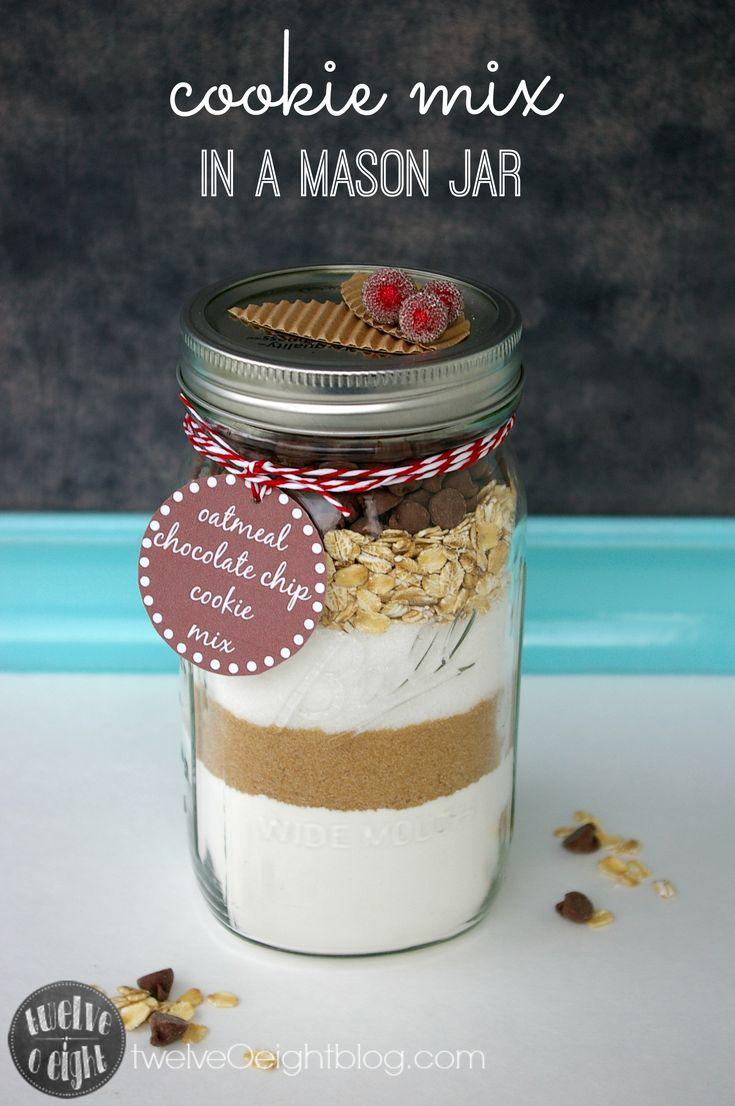 Cookie Mix Gift In A Jar Twelveoeightblog Com Christmas