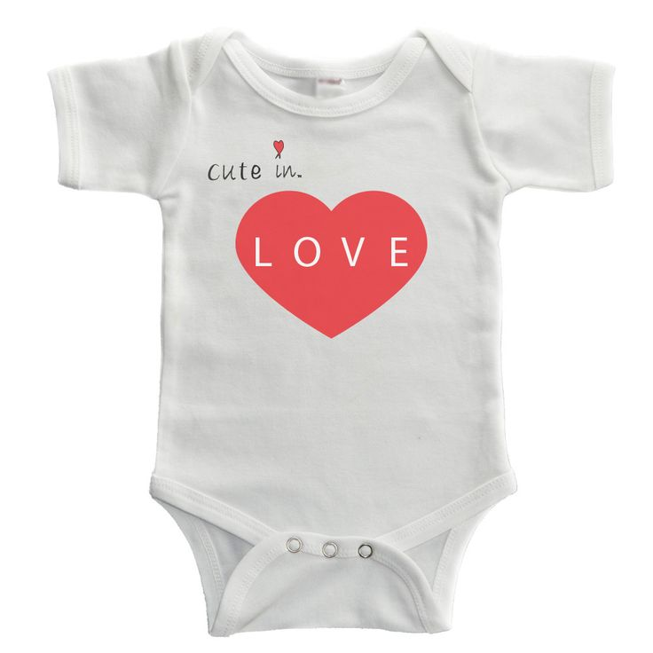 Is your little one Cute in LOVE? This onepiece makes a super cute baby Valentine's Day gift! 100% Cotton Cute Baby Bodysuit Orders will ship in 1-2 Business Days Style# H139