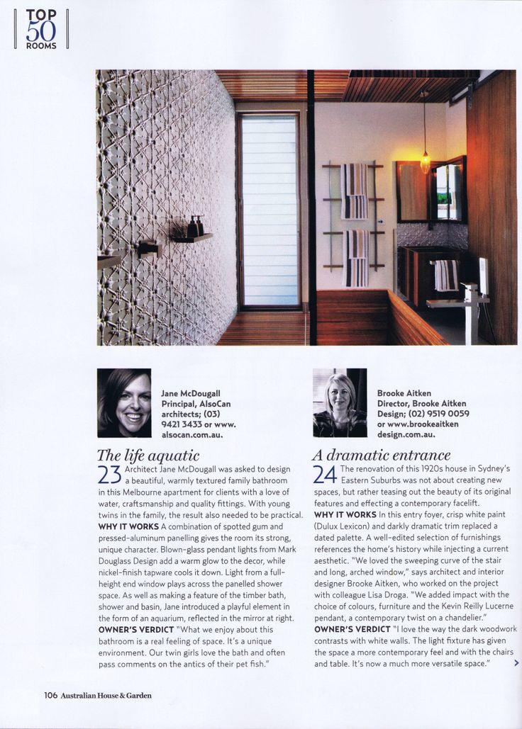 House & Garden November 2013 Page 2   Brooke Aitken Design