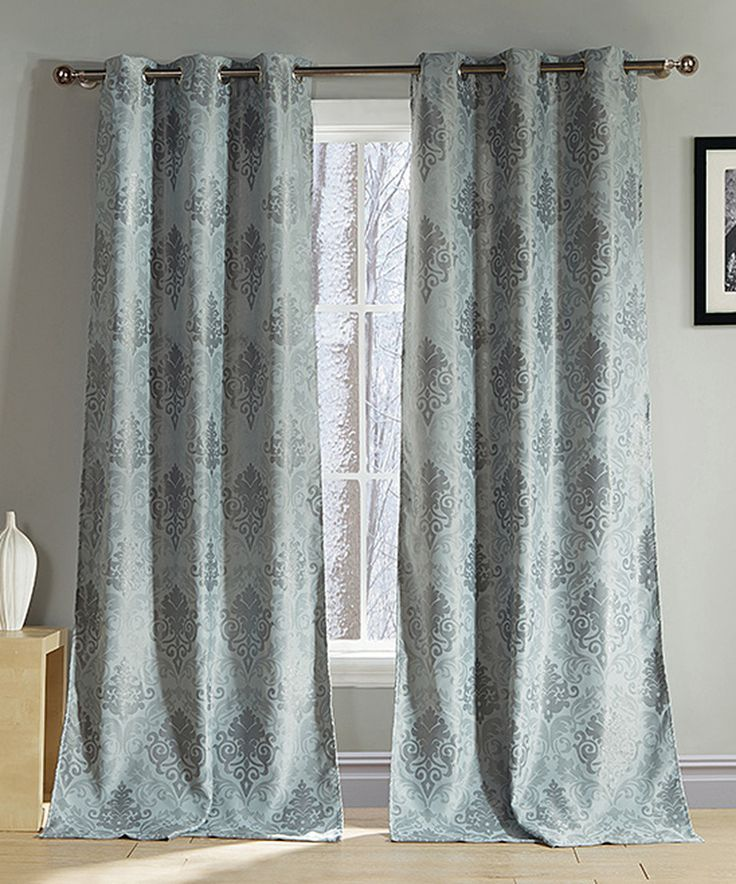 Duck River Textile Silver Cato Blackout Grommet Curtain Panel Set Of Two Textiles Love And