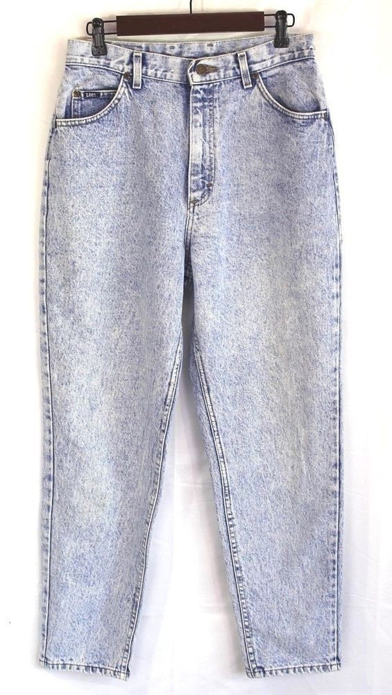 ca17db63fc Vintage 80's Lee Acid Washed Womens Jeans Size 14 High Waisted Mom Union 30  x 29