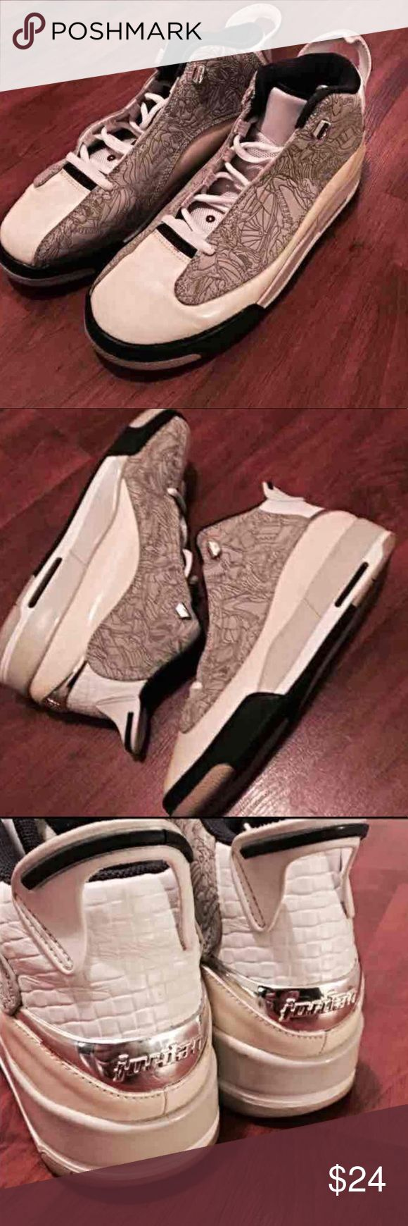 Old Skool AIR JORDAN Dub Zero - 7Y Size 7Y Great except missing one of the top metal lace rivets on left shoe but not too noticeable (see pics) Nike Shoes Sneakers