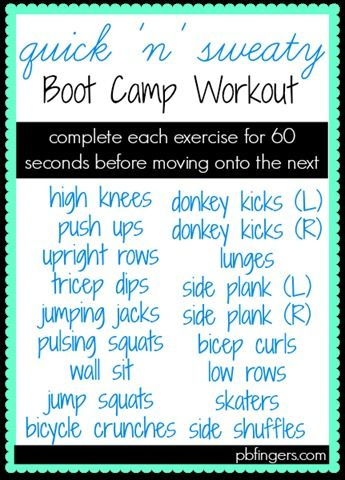 Quick 'n' Sweaty Boot Camp Workout