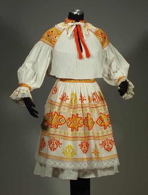 Complete Woman's Slovak Folk Costume from Cicmany by ethnicdress