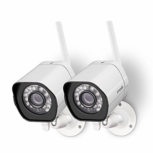 Discounted Zmodo Wireless Security Camera System ( 2 pack ) Smart HD Outdoor WiFi IP Cameras with Night Vision
