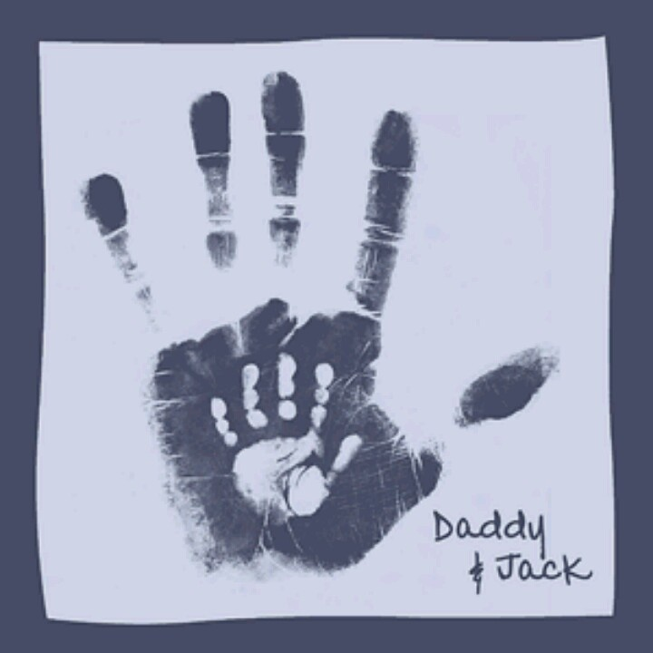 Daddy Baby Handprints