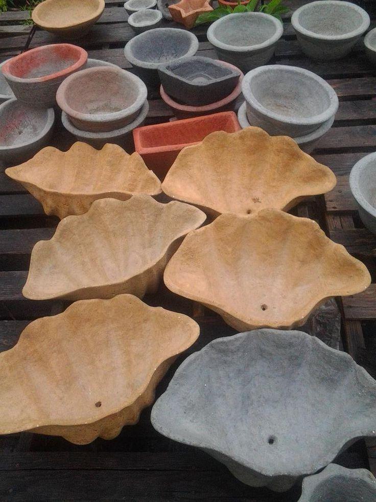Rain rinsed papercrete shells papercrete creations for Unusual bonsai creations