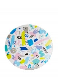 Scribble Melamine Dinner Plate