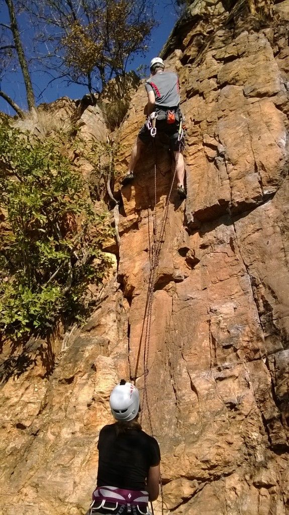 Rock Climbing in Strubens Valley, Johannesburg