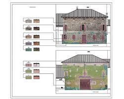 Elaborati restauro architettonico.