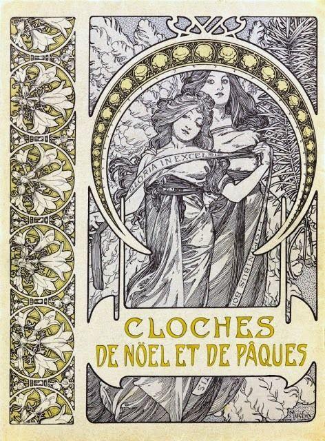 Cloches de no l et de p ques 1900 alphonse mucha pinterest alphonse mucha art deco - Cloches de paques ...
