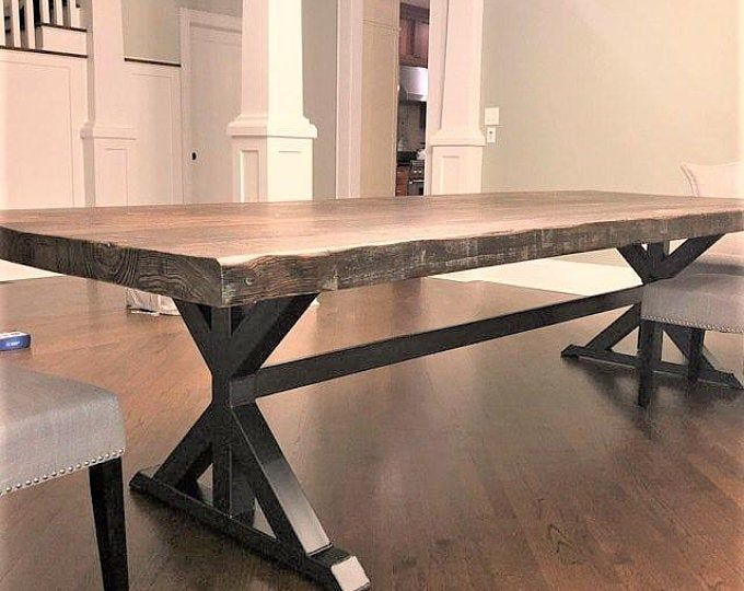 Trestle Table Legs With 2 Braces Model Tr11hb2 Heavy Duty Etsy Dining Table Legs Trestle Table Legs Industrial Dining Table