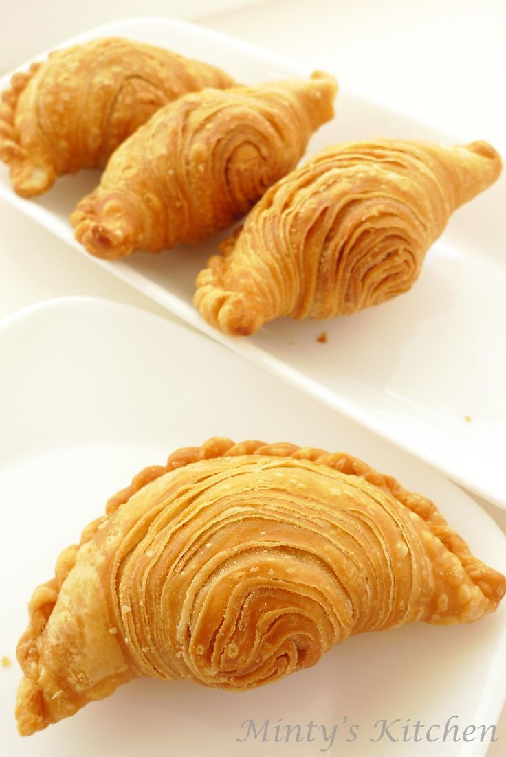 Minty's Kitchen: Spiral Curry Puffs