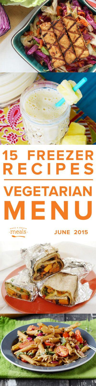 Vegetarian Menu June 2015   Once a Month Meals   OAMM   Freezer Meals   Freezer Cooking   Menu Planning   Custom Menus