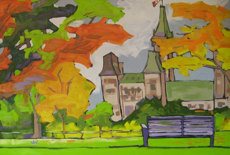 fall from major's hill park - 24X36