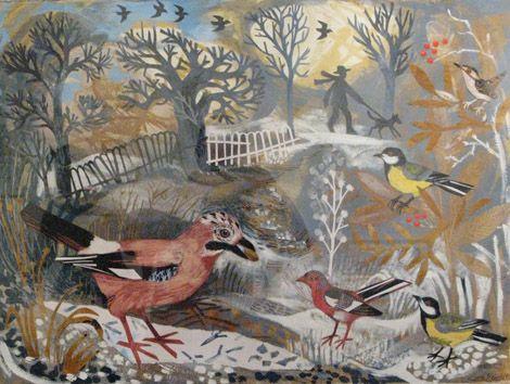 """Mark Hearld's """"Jays On The Heath"""" collage"""