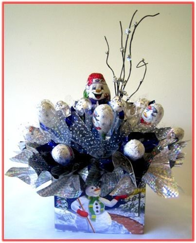 """SNOWMAN"" Candy Bouquet"