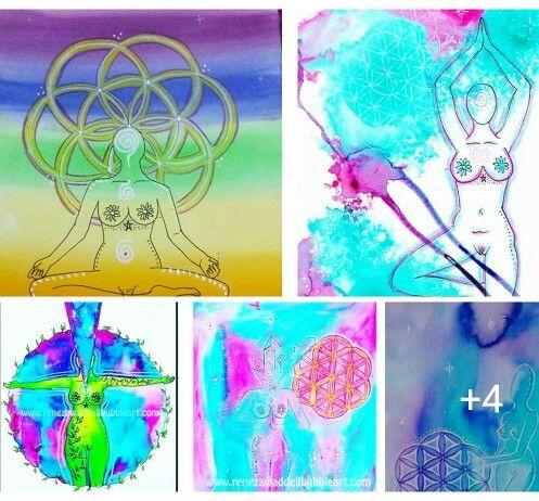 Meditation art, flower of life series www.renezawaddellbubbleart.com #renezawaddellbubbleart