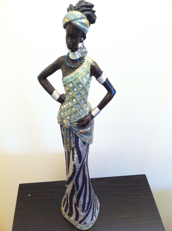 naked black woman statue afro