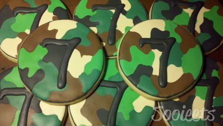 Camo Sugar Cookies Would LOVE to make these for Liam's birthday