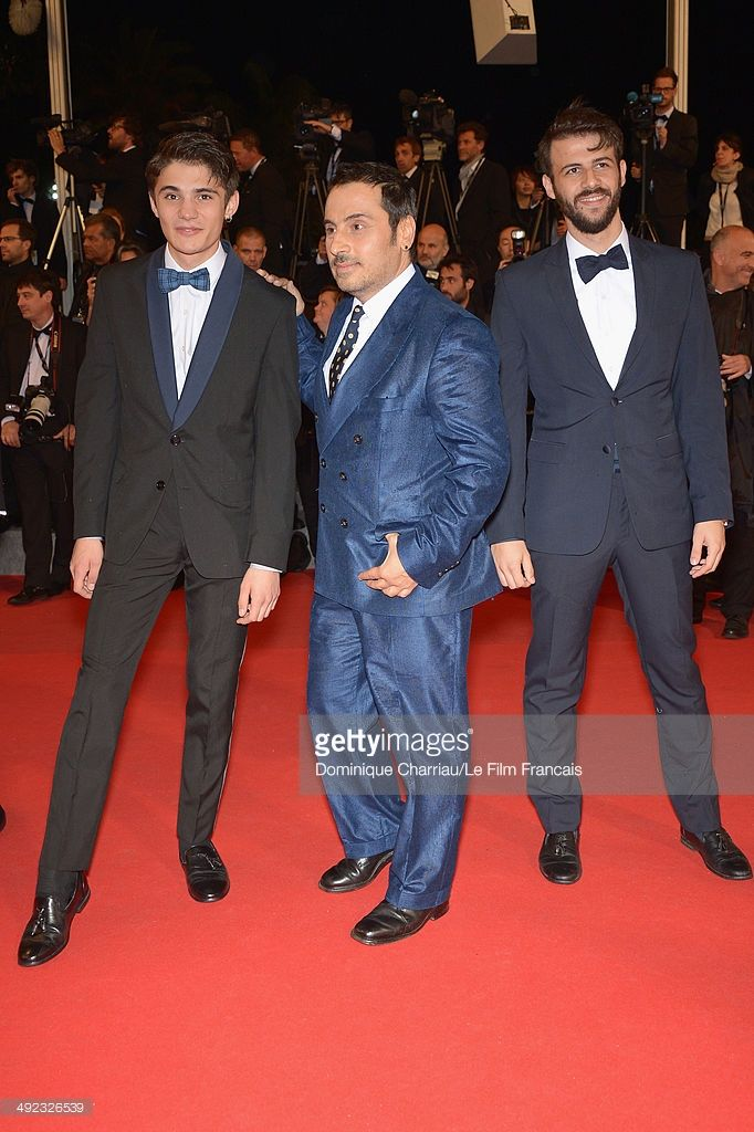 Kostas Nikouli, director Panos Koutras and actor Nikos Gelia attend the 'Xenia' Premiere at the 67th Annual Cannes Film Festival on May 19, 2014 in…