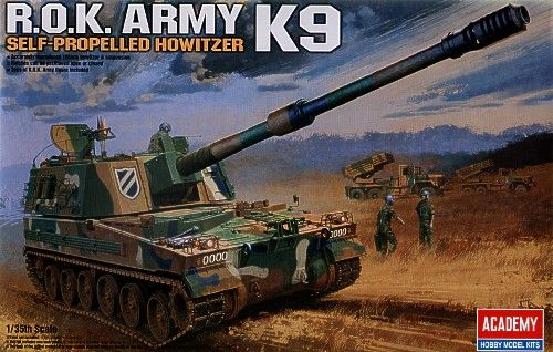K9, Self-Propelled Howitzer, South Korea Army. Academy, 1/35, injection, No.13219. Price: 23,39 GBP.