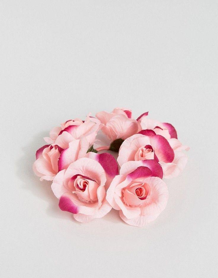 ASOS Ombre Rose Hair Bunholder Hairband - Pink