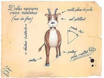 the Dahu is rumored to be found in the mountains...
