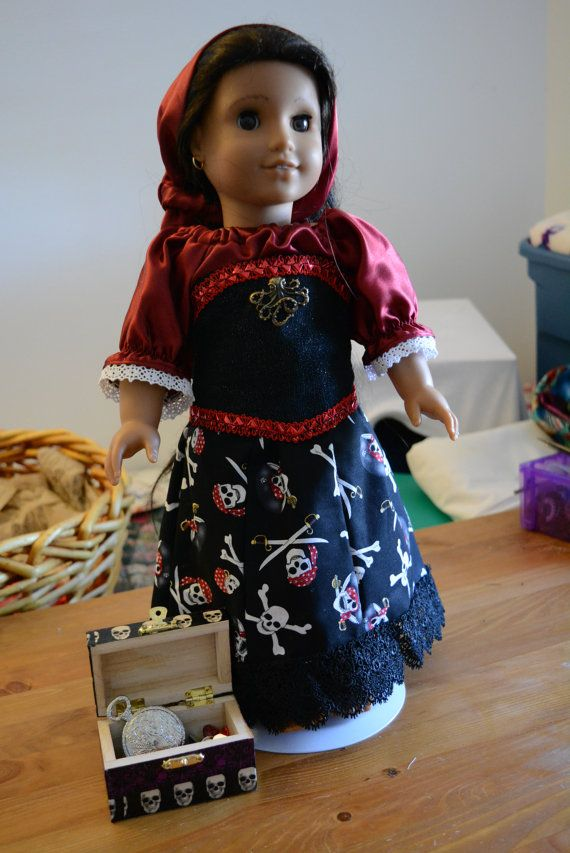 American girl Pirate queen long skirt bloomers by hudathotjewelry