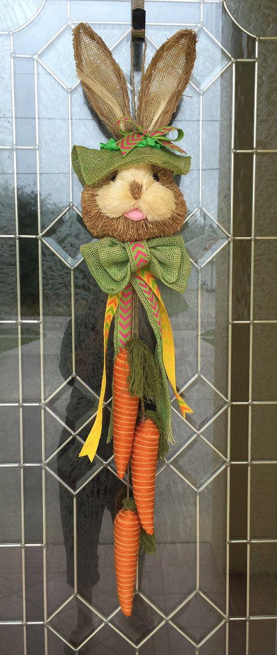 Easter Bunny Door Hanger  Easter Bunny Decor by DecoDecorByPatina