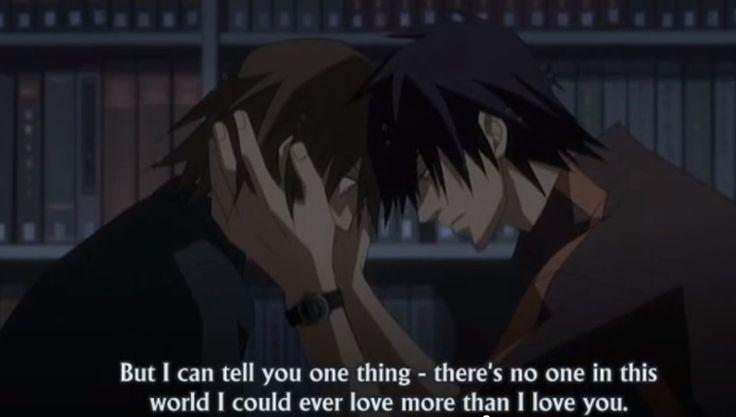 [Junjou Romantica] Hiroki and Nowaki. Hiro san is just too damn cute.