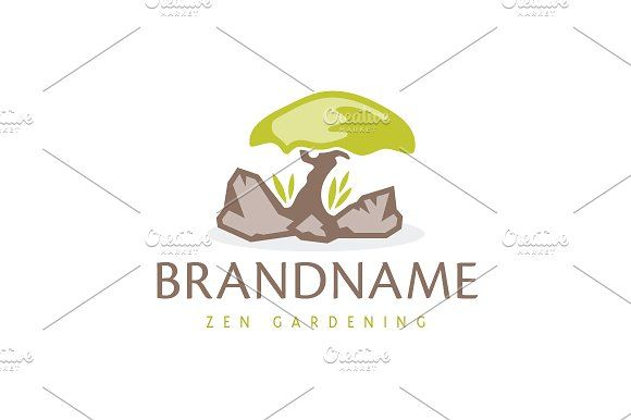For sale. Only $29 - art, tree, bonsai, rock, soil, garden, Zen, life, grow, mushroom, earth, green, brown, memorable, natural, modern, artistic, stone, lone, peace, tranquility, balance, harmony, vitality, success, simplicity, gardening, florist, spa, meditation, yoga, relaxation, landscaping, logo, design, template,